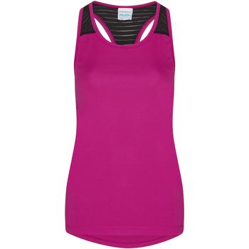 textil Dame Toppe / T-shirts uden ærmer Awdis JC027 Hot Pink