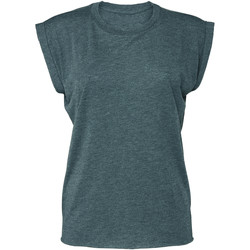 textil Dame T-shirts m. korte ærmer Bella + Canvas BE8804 Heather Teal