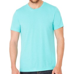 textil T-shirts m. korte ærmer Bella + Canvas CV3413 Sea Green Triblend