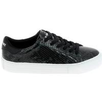 Sko Dame Lave sneakers No Name Arcade Print Kobra Noir Vert Fonce Sort