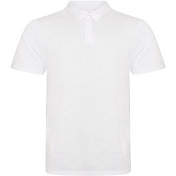 textil Herre Polo-t-shirts m. korte ærmer Awdis JP020 Slub White