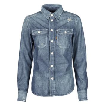 textil Dame Skjorter / Skjortebluser G-Star Raw KICK BACK WORKER SHIRT WMN L\S Blå / Medium