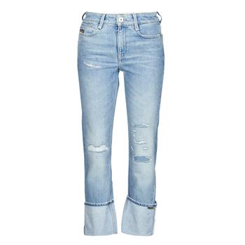 textil Dame Lige jeans G-Star Raw NOXER HIGH STRAIGHT WMN Blå