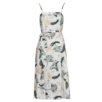 textil Dame Lange kjoler Roxy NOWHERE TO HIDE Hvid