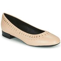 Sko Dame Ballerinaer Geox D WISTREY Pink / Guld