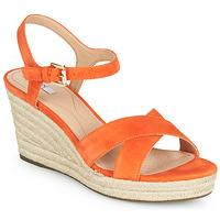 Sko Dame Sandaler Geox D SOLEIL Orange