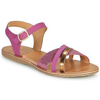 Sko Pige Sandaler Geox J SANDAL EOLIE GIRL Pink / Guld