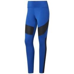 textil Dame Leggings Reebok Sport Wor Mesh Tight Sort, Blå