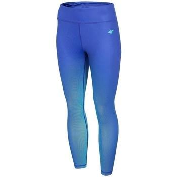 textil Dame Leggings 4F SPDF008 Blå