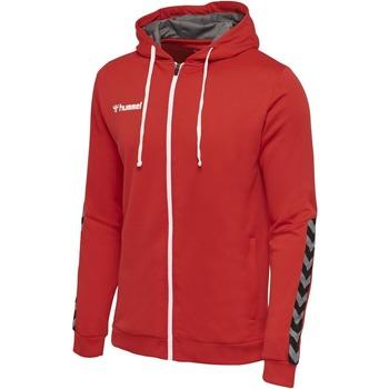 textil Børn Sweatshirts Hummel Sweatshirt enfant  zip Authentic Poly rouge