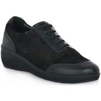 Sko Dame Lave sneakers Grunland NERO DAPE Nero
