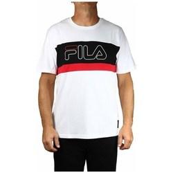 textil Herre T-shirts m. korte ærmer Fila Men Laurens Tee Hvid, Sort, Rød