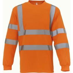 textil Langærmede T-shirts Yoko T-Shirt manches longues  Haute Visibilité orange