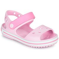 Sko Pige Sandaler Crocs CROCBAND SANDAL KIDS Pink