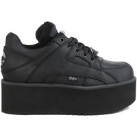 Sko Dame Lave sneakers Buffalo Chaussures femme Buffalo basses Risking Towers cuir noir