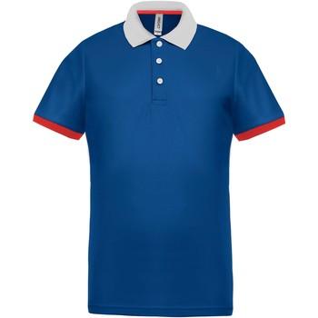textil Herre Polo-t-shirts m. korte ærmer Proact Polo piqué  Performance gris chiné