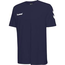 textil Børn T-shirts m. korte ærmer Hummel T-shirt enfant  hmlGO cotton bleu marine