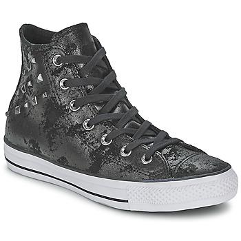 Sko Dame Høje sneakers Converse CHUCK TAYLOR ALL STAR HARDWARE Sort / Sølv
