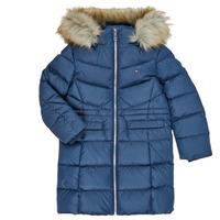 textil Pige Dynejakker Tommy Hilfiger KG0KG05397-C87-C Marineblå