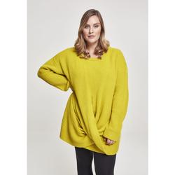 textil Dame Sweatshirts Urban Classics Sweatshirt femme Urban Classic wrapped GT jaune moutarde