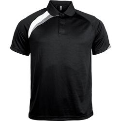 textil Herre Polo-t-shirts m. korte ærmer Proact Polo manches courtes  Sport noir/blanc/gris clair