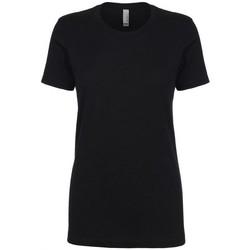 textil Dame T-shirts m. korte ærmer Next Level NX3900 Black