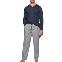 textil Herre Pyjamas / Natskjorte Impetus 1523310 E97 Blå