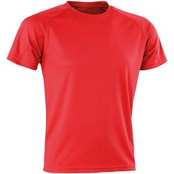 textil Herre T-shirts m. korte ærmer Spiro SR287 Red