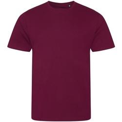 textil Herre T-shirts m. korte ærmer Ecologie EA001 Burgundy
