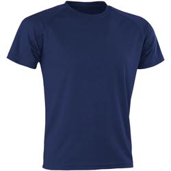 textil Herre T-shirts m. korte ærmer Spiro SR287 Navy