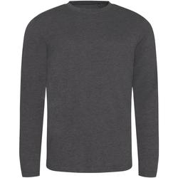 textil Herre Langærmede T-shirts Awdis JT002 Heather Charcoal