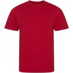 textil Herre T-shirts m. korte ærmer Ecologie EA001 Fire Red