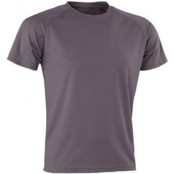 textil Herre T-shirts m. korte ærmer Spiro SR287 Grey