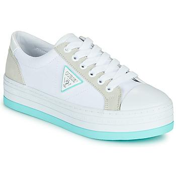 Sko Dame Lave sneakers Guess BRODEY Hvid / Blå
