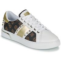 Sko Dame Lave sneakers Guess RICENA Hvid / Brun