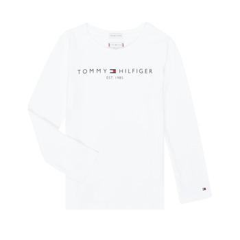 textil Pige Langærmede T-shirts Tommy Hilfiger KG0KG05247-YBR-J Hvid