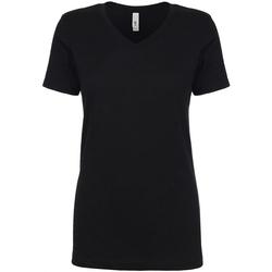 textil Dame T-shirts m. korte ærmer Next Level NX1540 Black