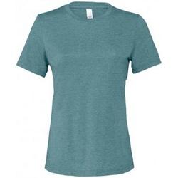 textil Dame T-shirts m. korte ærmer Bella + Canvas BL6400 Deep Teal Heather