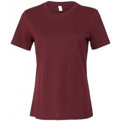 textil Dame T-shirts m. korte ærmer Bella + Canvas BL6400 Maroon