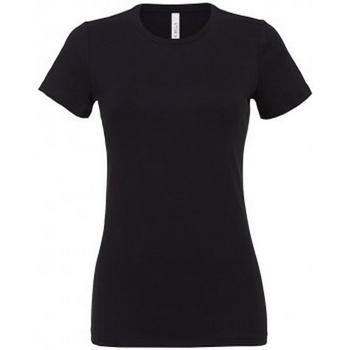 textil Dame T-shirts m. korte ærmer Bella + Canvas BL6400 Black
