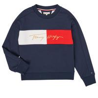 textil Pige Sweatshirts Tommy Hilfiger KG0KG05497-C87-J Marineblå