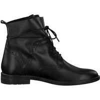 Sko Dame Støvler Marco Tozzi Booties Low Heels Black Antic Sort