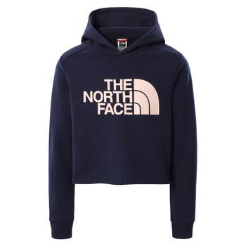 textil Pige Sweatshirts The North Face DREW PEAK CROPPED HOODIE Marineblå