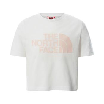 textil Pige T-shirts m. korte ærmer The North Face EASY CROPPED TEE Hvid