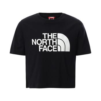 textil Pige T-shirts m. korte ærmer The North Face EASY CROPPED TEE Sort