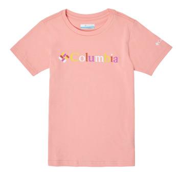 textil Pige T-shirts m. korte ærmer Columbia SWEET PINES GRAPHIC Pink
