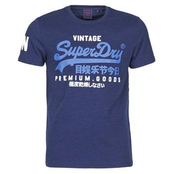 textil Herre T-shirts m. korte ærmer Superdry VL NS TEE Midnat / Blå / Grit