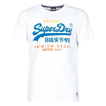 textil Herre T-shirts m. korte ærmer Superdry VL TRI TEE 220 Hvid
