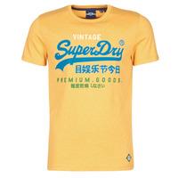 textil Herre T-shirts m. korte ærmer Superdry VL TRI TEE 220 Gul