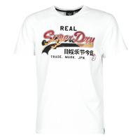 textil Herre T-shirts m. korte ærmer Superdry VL ITAGO TEE 220 Optisk